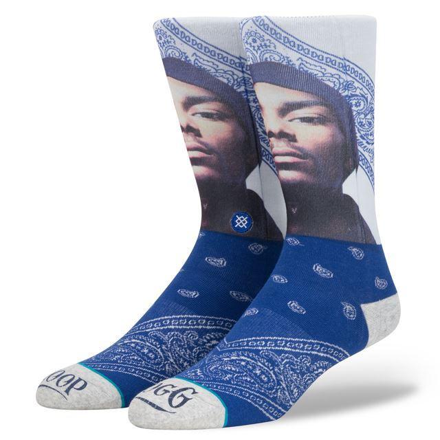 スタンス ソックス STANCE SOCKS メンズ Snoop Dogg スヌープドッグ 柄物 靴下 くつ下 ハイソックス WHATS MY NAME M545D17WHA NAVY
