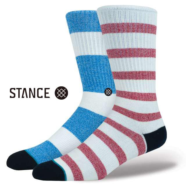 スタンス ソックス STANCE SOCKS メンズ ボーダー 靴下 くつ下 ハイソックス STARBOARD NATURAL M556B17STA-NAT / Lサイズ(25.5-29cm)