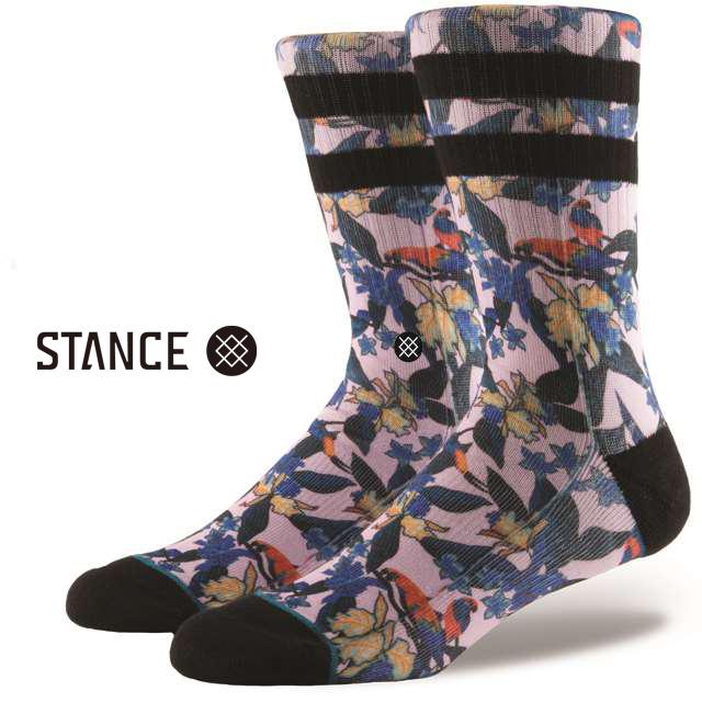 スタンス ソックス STANCE SOCKS メンズ 柄物 靴下 くつ下 ハイソックス BUGGIN MULTI M556C17BUG-MUL / Lサイズ(25.5-29cm)