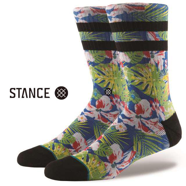 スタンス ソックス STANCE SOCKS メンズ 柄物 靴下 くつ下 ハイソックス CANNONS BLUE M556C17CAN-BLU / Lサイズ(25.5-29cm)