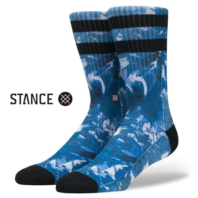 スタンス ソックス STANCE SOCKS メンズ 柄物 靴下 くつ下 ハイソックス YADDA BLUE M556C17YAD-BLU / Lサイズ(25.5-29cm)