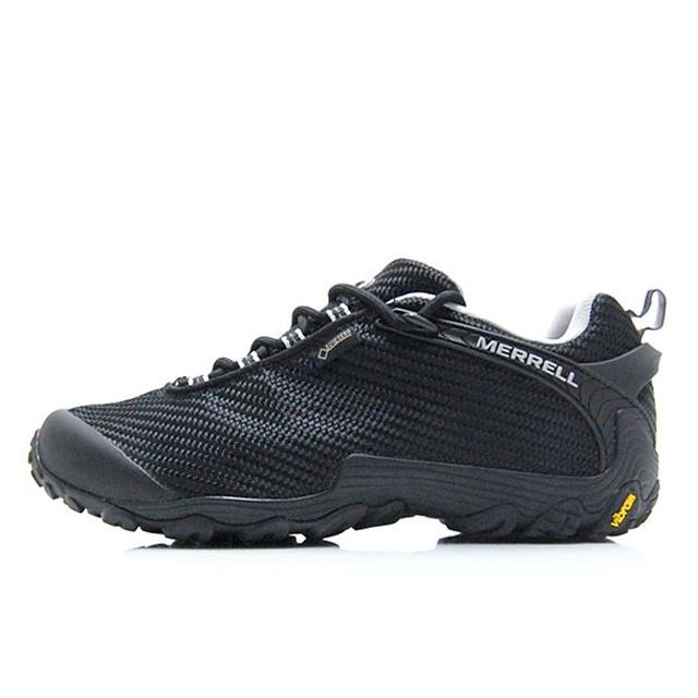 メレル MERREL トレッキングシューズ メンズ レディース CHAMELEON 7 STORM GORE-TEX カメレオン 7 ストーム ゴアテックス 登山靴 フェス BLACK/BLACK W:J38604 M:J36475