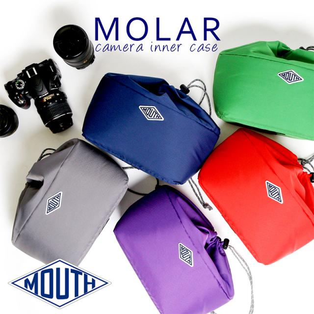 MOUTH マウス インナーバッグ ソフトクッション MOLAR 2 モラー2 巾着 インナーケース カメラバッグ MJC15048 [巾着型/折りたたみ/かわいい/女子/男女兼用/シンプル/おしゃれ/ケース/一眼レフ/ミラーレス/デジカメ]
