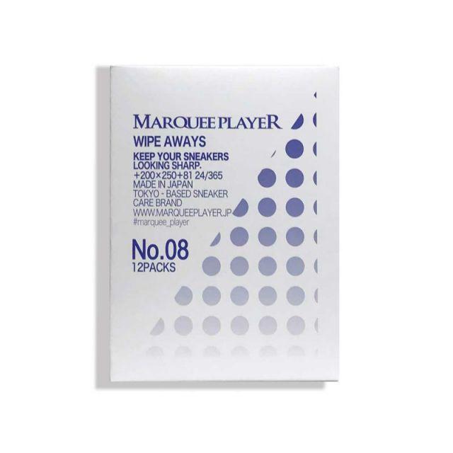 マーキープレイヤー スニーカー洗浄ウエットシート(12枚set) MARQUEE PLAYER WIPE AWAYS NO.08 ケア用品 汚れ落とし MP009
