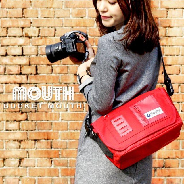 MOUTH カメラバッグ 一眼レフ ミラーレス一眼 女子 おしゃれ カメラバック マウス ミニ ショルダー バッグ ボディバッグ レンズ2本 BUCKET MOUTH バケットマウス MSB09112 インナー ケースセット