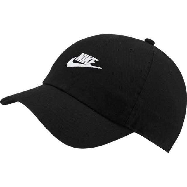 ナイキ ヘリテージ86 フューチュラ ウォッシュド キャップ NIKE ブラック/ブラック/ホワイト メンズ レディース 帽子 913011-010