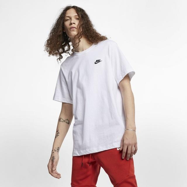 ナイキ クラブ Tシャツ NIKE ホワイト/ブラック メンズ Tシャツ AR4999-101
