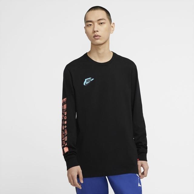 ナイキ HBR ワールドワイド L/S Tシャツ NIKE ブラック メンズ Tシャツ CW0391-010