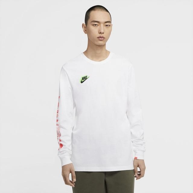 ナイキ HBR ワールドワイド L/S Tシャツ NIKE ホワイト メンズ Tシャツ CW0391-100