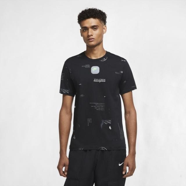 【SALE】 ナイキ ミュージック AOP S/S NIKE ブラック メンズ Tシャツ CW0409-010