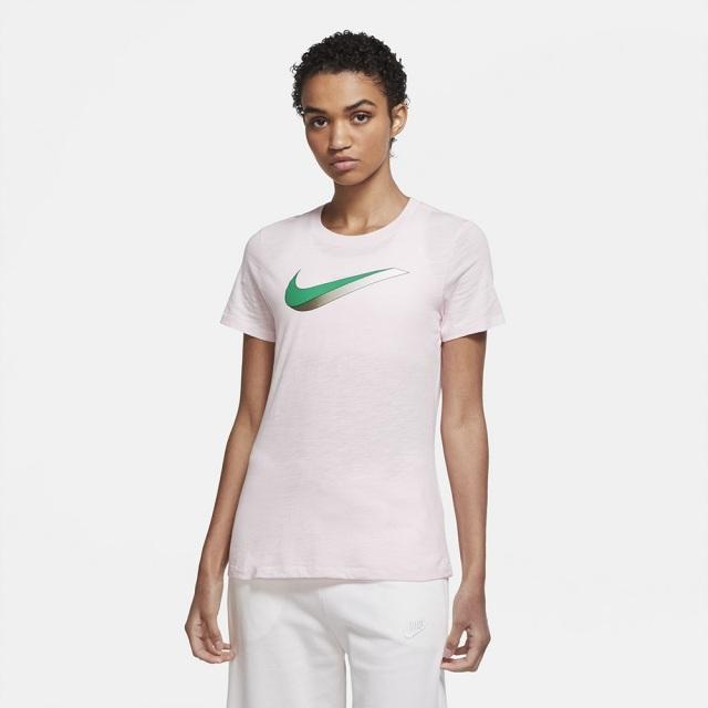 ナイキ ナイキ ウィメンズ NSW アイコン S/S Tシャツ NIKE ピンクフォーム レディース Tシャツ CW9477-663
