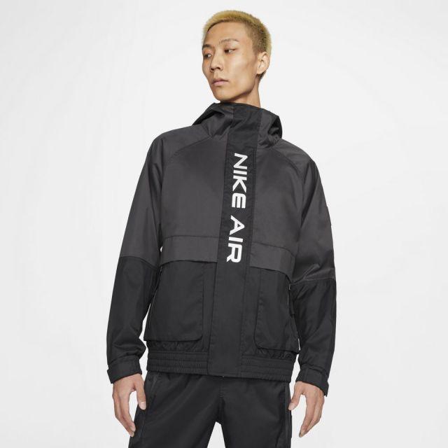 ナイキ ウーブン フーディ ジャケット NIKE BLACK/DK SMOKE GREY/WHITE メンズ ジャケット DA0272-010