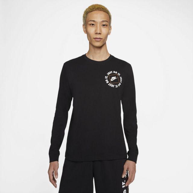 【SALE】ナイキ ロングスリーブ Tシャツ NIKE BLACK メンズ Tシャツ DA0333-010