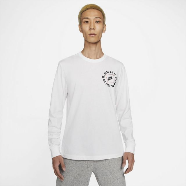 【SALE】ナイキ ロングスリーブ Tシャツ NIKE WHITE メンズ Tシャツ DA0333-100