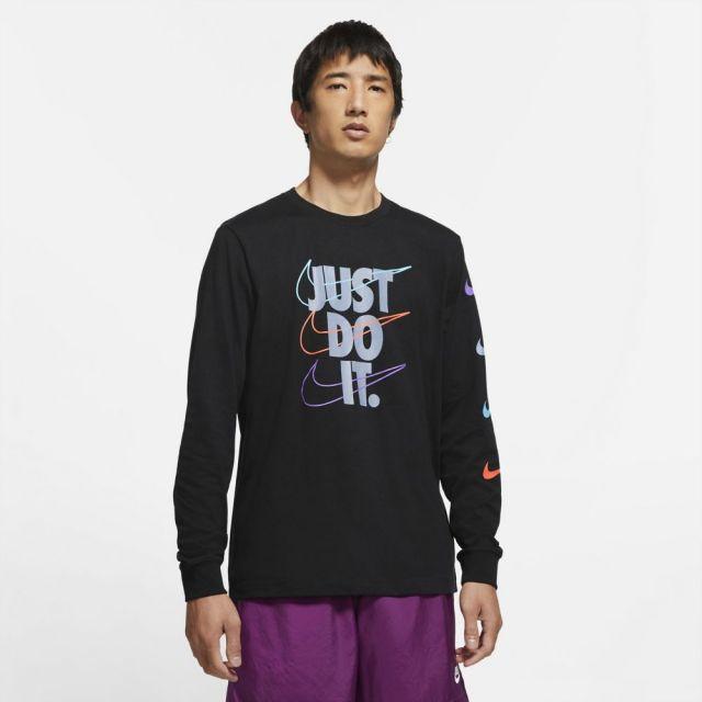 【SALE】ナイキ ロングスリーブ Tシャツ NIKE ブラック/アッシェンスレート メンズ Tシャツ DB6189-010
