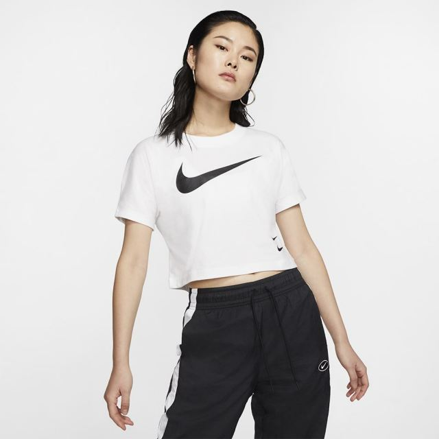 【SALE】 NIKE ナイキ ウィメンズ スウッシュ S/S レディース Tシャツ CJ3765-100