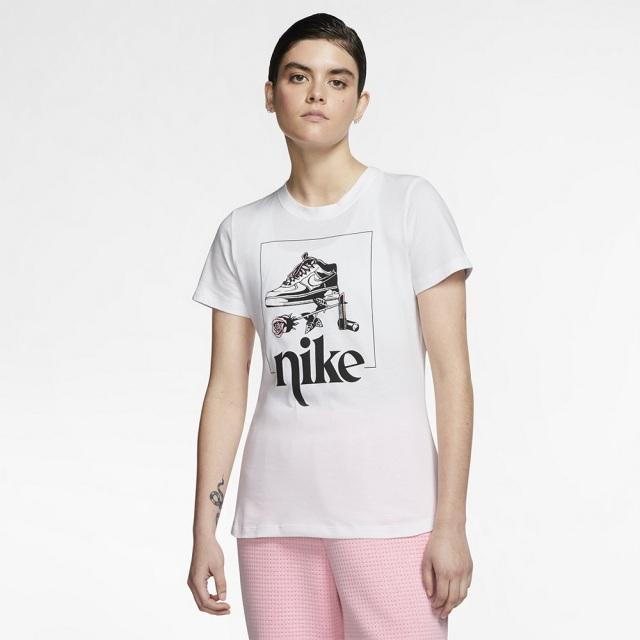 ナイキ ウィメンズ スポーツウェア Tシャツ ストリート 2 NIKE ホワイト レディース Tシャツ CT8925-100