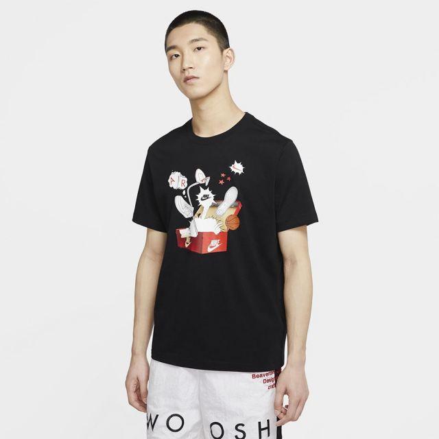 NIKE ナイキ メンズ ウェア シューボックス フォト Tシャツ ブラック CU6872-010