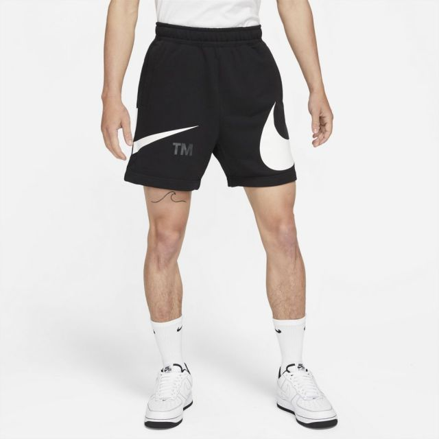 【SALE】 ナイキ NSW スウォッシュ メンズ フレンチテリー ショーツ NIKE NSW SWOOSH MEN'S FRENCH TERRY SHORTS BLACK/WHITE メンズ パンツ DD5998-010