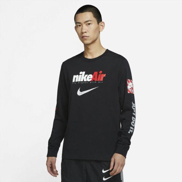 ナイキ NSW スウッシュ バイ エア L/S Tシャツ NIKE BLACK メンズ Tシャツ DJ1416-010