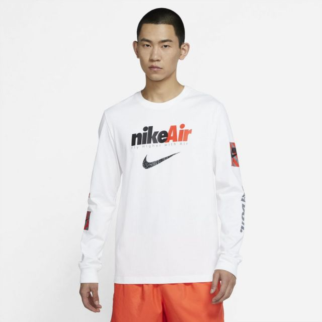 ナイキ NSW スウッシュ バイ エア L/S Tシャツ NIKE WHITE メンズ Tシャツ DJ1416-100