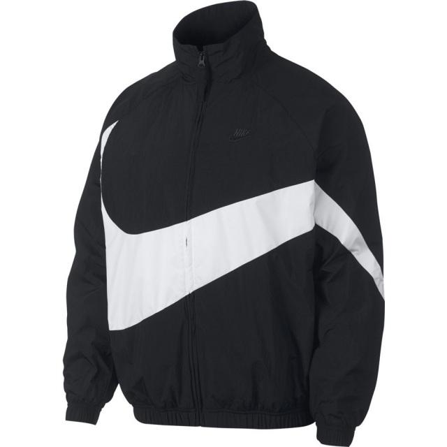 ナイキ ウーブン ジャケット NIKE ブラック/ホワイト/ブラック/ブラック メンズ ジャケット ビッグスウォッシュ AR3133-010