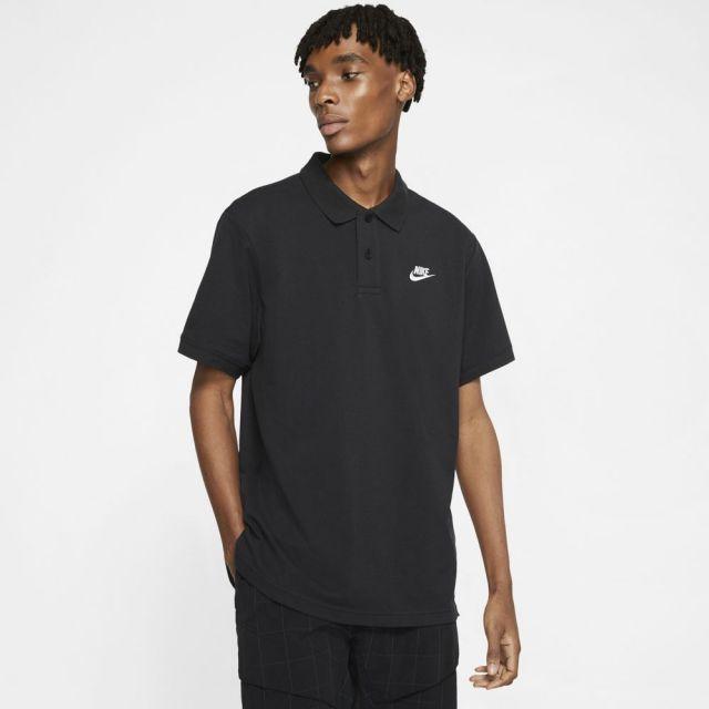 【SALE】 ナイキ スポーツウェア ポロ NIKE ブラック/ホワイト メンズ Tシャツ CJ4457-010