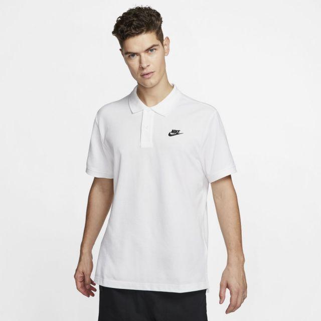 【SALE】 ナイキ スポーツウェア ポロ NIKE ホワイト/ブラック メンズ Tシャツ CJ4457-100