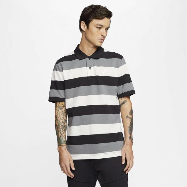 ナイキ スポーツウェア ポロ NIKE ブラック/ホワイト メンズ Tシャツ CJ4466-010