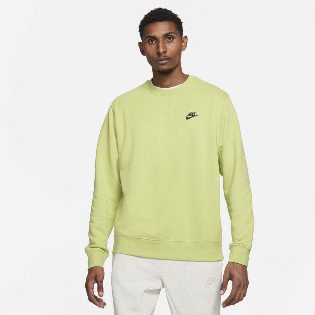 ナイキ スポーツウェア クルー NIKE ライムライト/ダークスモークグレー メンズ Tシャツ サステナブル DA0684-352