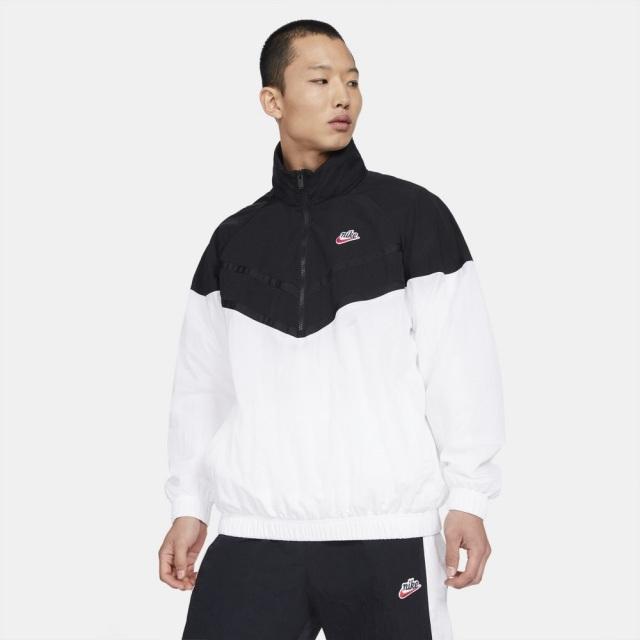 ナイキ ジップ フーデッド ジャケット NIKE ブラック/ホワイト メンズ ジャケット DA2493-010