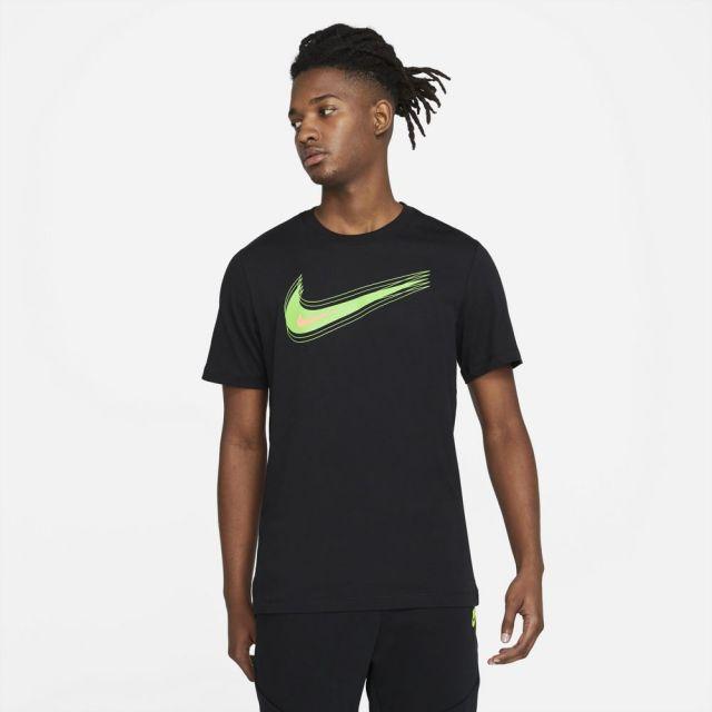 【SALE】 ナイキ NSW スウッシュ 12 MONTH S/S Tシャツ NIKE BLACK/MEAN GREEN メンズ Tシャツ DB6471-010
