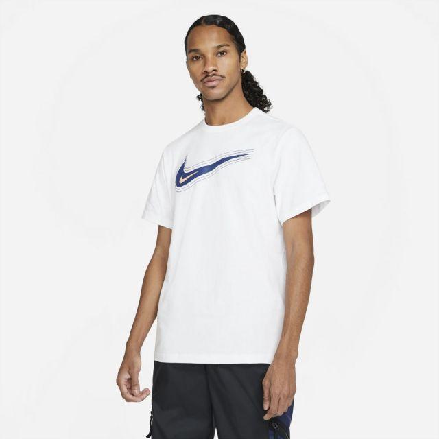 【SALE】 ナイキ NSW スウッシュ 12 MONTH S/S Tシャツ NIKE WHITE/BLUE VOID メンズ Tシャツ DB6471-100