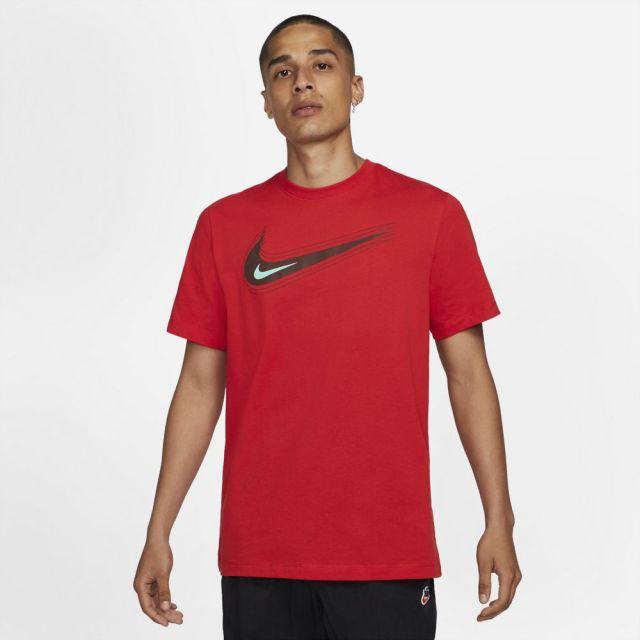 【SALE】 ナイキ NSW スウッシュ 12 MONTH S/S Tシャツ NIKE UNIVERSITY RED/BRONZE ECLIPSE メンズ Tシャツ DB6471-657