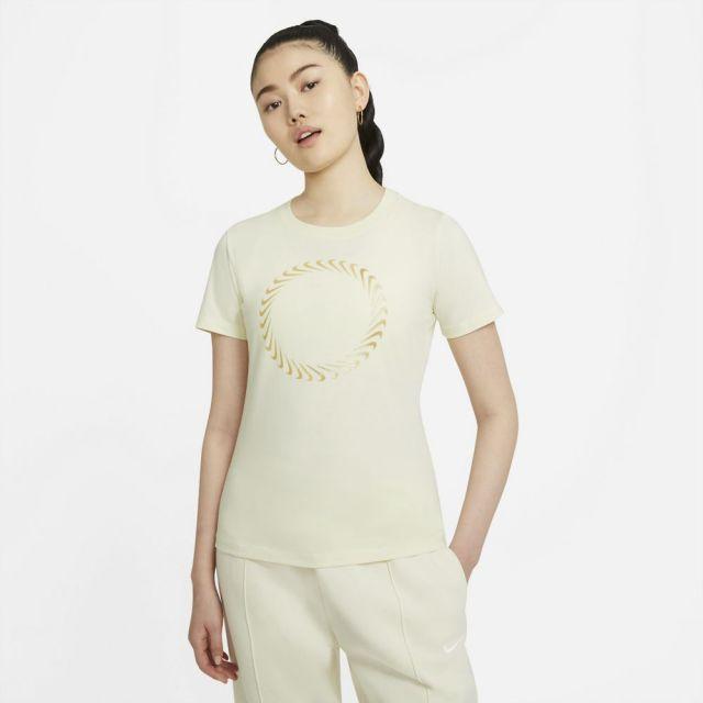 ナイキ スポーツウェア Tシャツ NIKE ホワイト レディース Tシャツ DD1231-113