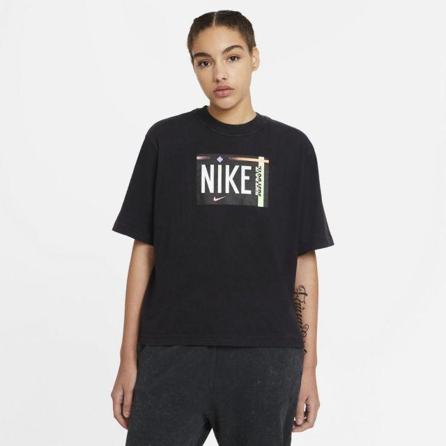 ナイキ WS NSW ウォッシュ S/S Tシャツ NIKE ブラック レディース Tシャツ DD1234-010