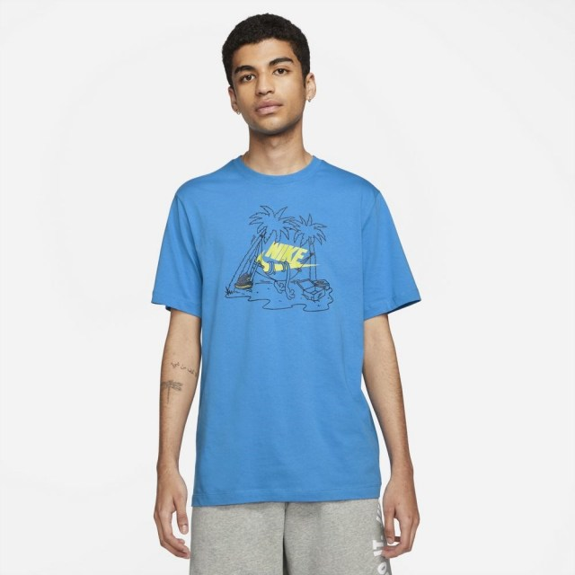 ナイキ フューチュラ ツリー S/S Tシャツ NIKE LT PHOTO BLUE メンズ Tシャツ DD1259-435