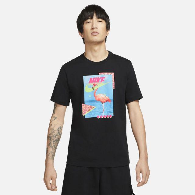 ナイキ NSW ビーチ フラミンゴ S/S Tシャツ NIKE BLACK メンズ Tシャツ DD1283-010