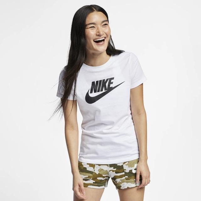 ナイキ エッセンシャル アイコン フューチュラ S/S Tシャツ NIKE ホワイト レディース BV6170-100