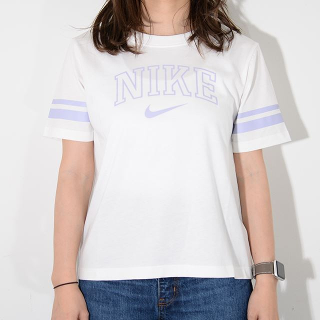 NIKE ナイキ ウィメンズ レディースウェア  Tシャツ バーシティ S/S トップ ホワイト AR3770-134