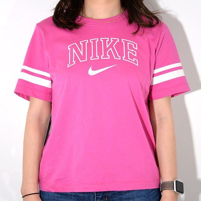 NIKE ナイキ ウィメンズ レディースウェア  Tシャツ バーシティ S/S トップ ピンク AR3770-623