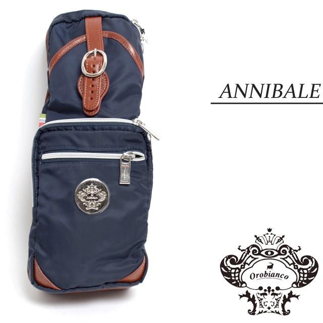 Orobianco オロビアンコ バッグ ANNIBALE-D アンニバル ブルー/ブルチアート [ネイビー/ナイロン/レザー/イタリア製/ビジネス/ボディバッグ/ショルダーバッグ/ワンショルダー]