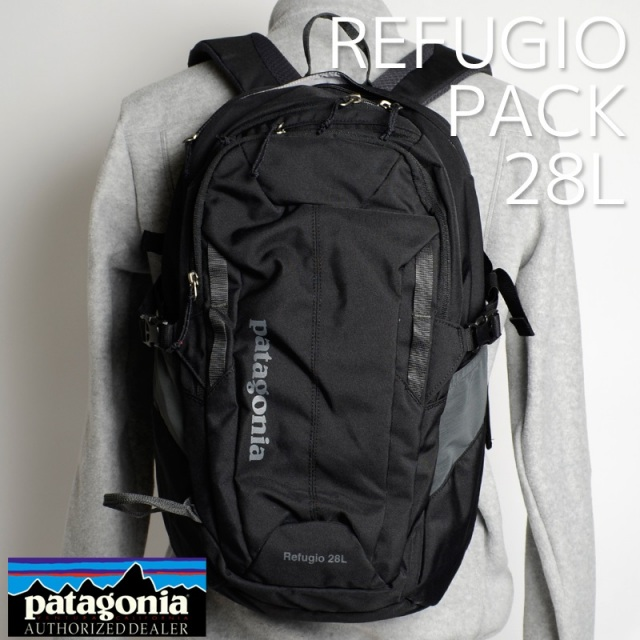 <20%OFF SALE セール> Patagonia パタゴニア バッグ バックパック リュック REFUGIO PACK 28L レフュジオ・パック 28L Black ブラック 47911-BLK [アウトドア/旅行/デイパック/撥水]