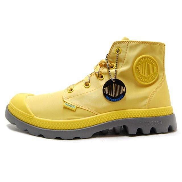 <30%OFF SALE> PALLADIUM パラディウム レディース レインシューズ Pampa Puddle Lite WP パンパパドルライトWP Yellow/Metal イエロー/メタル 93085-702 [レインブーツ/スニーカー/雨/梅雨/防水/雨靴/長靴/野外フェス/ウォータープルーフ]【返品交換不可】