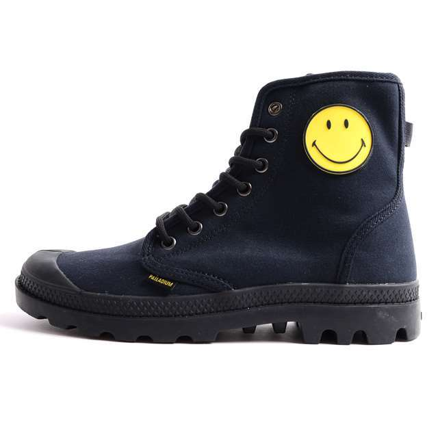 PALLADIUM パラディウム メンズ レディース スニーカー ブーツ コラボモデル スマイリー Pampa Fest Bag Smiley パンパ フェストバッグ Black Smiley ブラックスマイリー 75581-091 [限定モデル/LIMITED/リミテッドモデル]