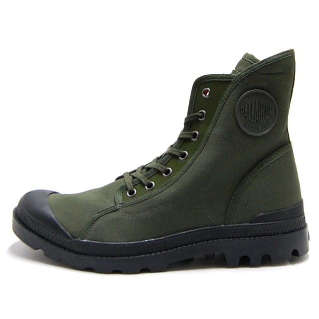 PALLADIUM パラディウム メンズ スニーカー Pampa M65 Hi パンパ M65 ハイ Army Green/Black/Flame 05346-314 [ハイカット/カーキ/カジュアル]