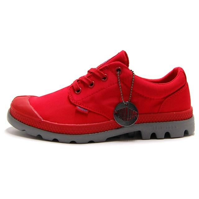 PALLADIUM パラディウム メンズ レディース スニーカー Pampa Oxford Puddle Lite WP パンパ オックスフォード パドル ライト WP True Red/Metal トゥルーレッド/メタル 75427-601 [ローカット/レインシューズ/雨靴/防水/ユニセックス]