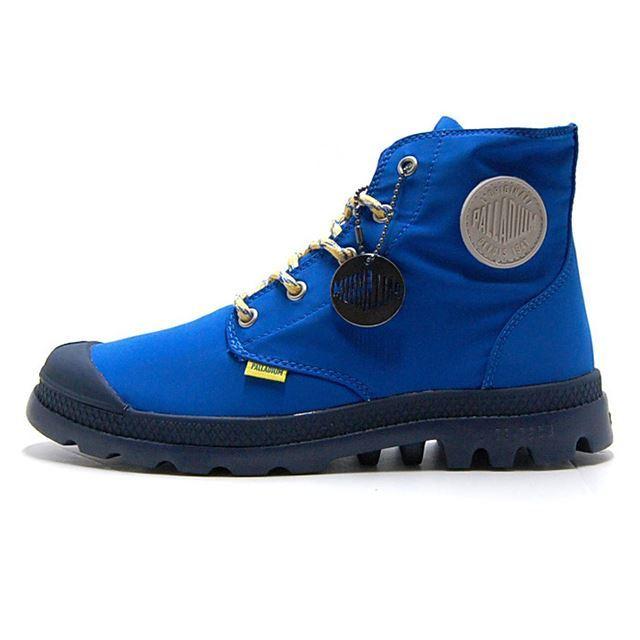 パラディウム PALLADIUM ブーツ メンズ レディース パンパ パドル ライト ウォータープルーフ Pampa Puddle Lite WP 防水 レインシューズ レインブーツ  ブルー 73085-484