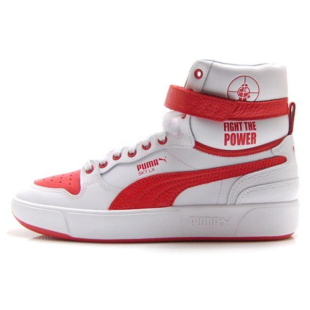 【4/9発売 先行予約】 プーマ スカイ LX パブリックエネミー PUMA SKY LX PUBLIC ENEMY PUMA WHITE / HIGH RISK RED メンズ Def Jam デフジャム スニーカー 374538-01