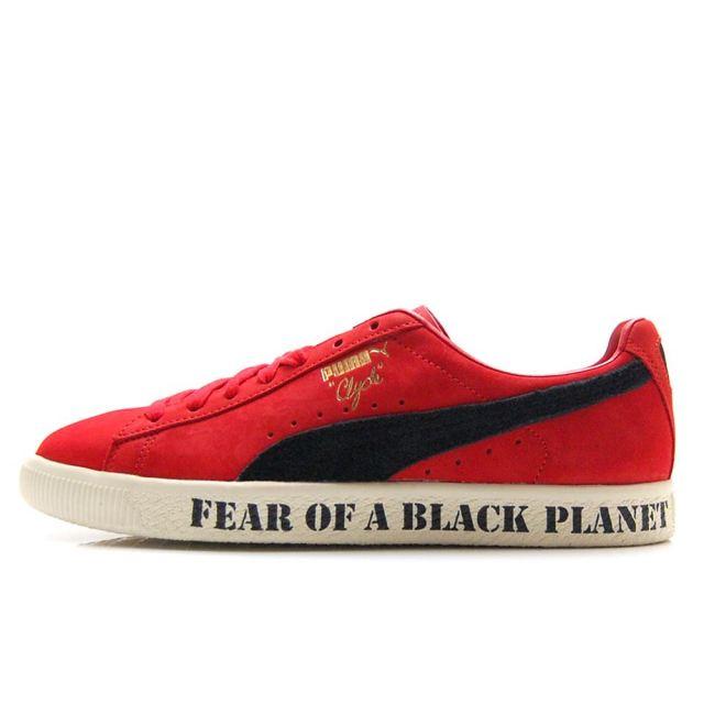 【4/9発売 先行予約】 プーマ クライド パブリックエネミー PUMA CLYDE PUBLIC ENEMY HIGH RISK RED / PUMA BLACK メンズ Def Jam デフジャム スニーカー 374539-01